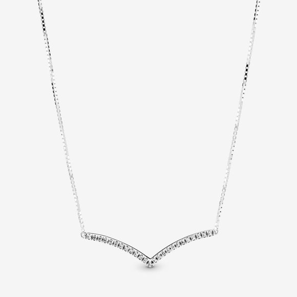 Pandora Jewelry - Shimmering Wish Necklace in Silver